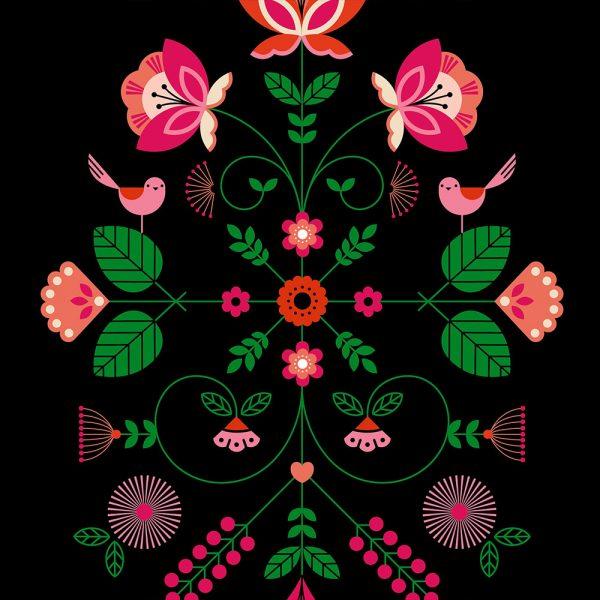 Folk Print Black
