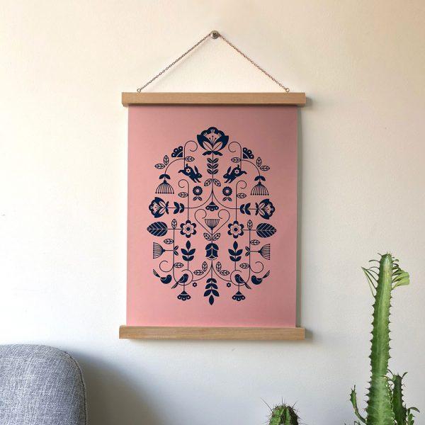 Folk Print Pink